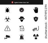 set of cyber crime  virus... | Shutterstock .eps vector #447491194