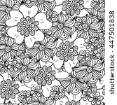 vector floral seamless pattern. ... | Shutterstock .eps vector #447501838