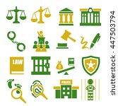 court  tribunal  judiciary icon ... | Shutterstock .eps vector #447503794