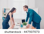 business competition. two... | Shutterstock . vector #447507073