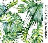 seamless watercolor... | Shutterstock . vector #447511879