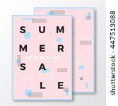 summer sale poster  card or... | Shutterstock .eps vector #447513088