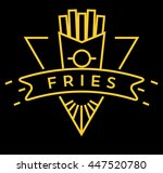 vector french fries icon with... | Shutterstock .eps vector #447520780