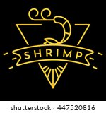 vector shrimp icon with linear... | Shutterstock .eps vector #447520816