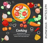 ingredients for cooking and... | Shutterstock .eps vector #447521194