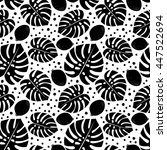black and white seamless... | Shutterstock .eps vector #447522694