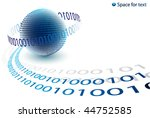 binary code background | Shutterstock .eps vector #44752585
