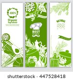 vegetables and herbs. for farm... | Shutterstock .eps vector #447528418