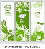 vegetables and herbs. for farm...   Shutterstock .eps vector #447528418