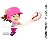 vector illustration of baseball ... | Shutterstock .eps vector #447528436