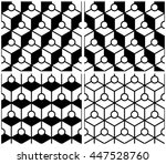 monochrome circle and argyle in ...   Shutterstock .eps vector #447528760
