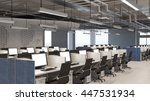 callcenter office with many... | Shutterstock . vector #447531934