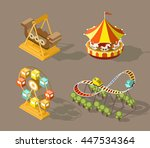 set of isolated isometric... | Shutterstock .eps vector #447534364