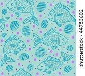 fish pattern | Shutterstock .eps vector #44753602