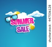 hot summer sale typography.... | Shutterstock .eps vector #447536128