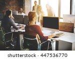 mockup copyspace computer... | Shutterstock . vector #447536770