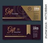 gift voucher premier color... | Shutterstock .eps vector #447538864