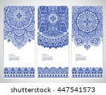 indian floral paisley medallion ... | Shutterstock .eps vector #447541573