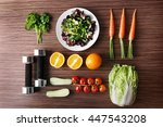workout and fitness dieting.... | Shutterstock . vector #447543208