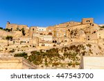 panorama of matera  puglia ... | Shutterstock . vector #447543700
