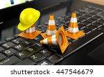website under construction with ... | Shutterstock . vector #447546679