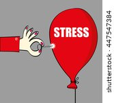 relief from stress concept with ...   Shutterstock .eps vector #447547384