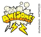 freehand drawn comic book... | Shutterstock .eps vector #447549220