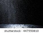 dark background shot of rain... | Shutterstock . vector #447550810