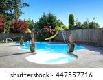 fenced backyard with small... | Shutterstock . vector #447557716