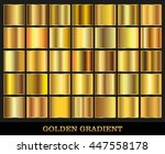 Golden squares collection.Vector set of gold gradients.