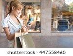 portrait of beautiful smiling...   Shutterstock . vector #447558460