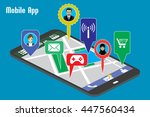 different mobile applications... | Shutterstock .eps vector #447560434