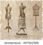 female body vintage mannequin... | Shutterstock .eps vector #447562300