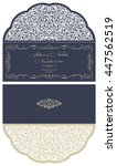 wedding invitation baroque.... | Shutterstock .eps vector #447562519