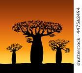 vector illustration three... | Shutterstock .eps vector #447563494