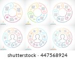 vector circle arrows... | Shutterstock .eps vector #447568924