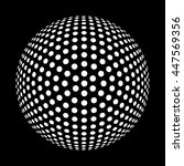 black and white dotted sphere... | Shutterstock .eps vector #447569356