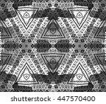 ethnic seamless pattern. ethnic ... | Shutterstock . vector #447570400