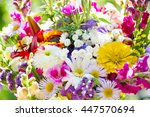 Bouquet Of Summer Flowers On...