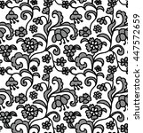 lace black seamless pattern... | Shutterstock .eps vector #447572659