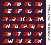 fast fire alphabet letters logo ... | Shutterstock .eps vector #447574633