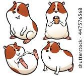 Stock vector vector illustration of cartoon hamster character set 447576568