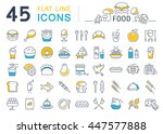 set vector line icons meal and... | Shutterstock .eps vector #447577888