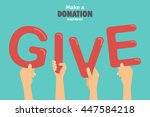give and share your love to... | Shutterstock .eps vector #447584218