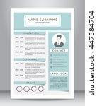 job resume or cv template... | Shutterstock .eps vector #447584704