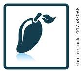 icon of mango. shadow...   Shutterstock .eps vector #447587068