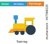 train toy icon. flat color...
