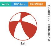 baby rubber ball icon. flat...