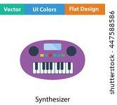 synthesizer toy icon. flat...