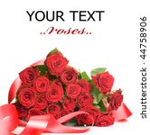 Stock photo roses bunch 44758906